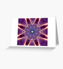 Sci-Fi Flower Kaleidoscope Greeting Card