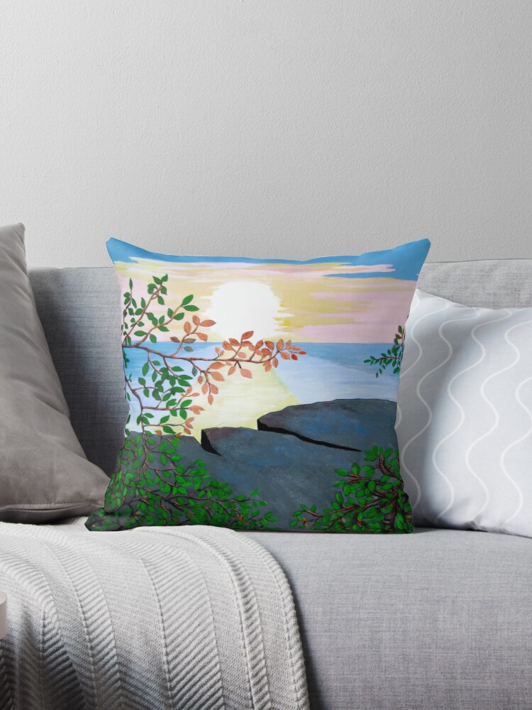 Caribbean Sunset Pillow and Tote Bag by Shulie1