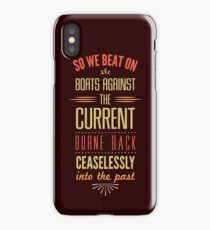 Boats Against the Current iPhone Case
