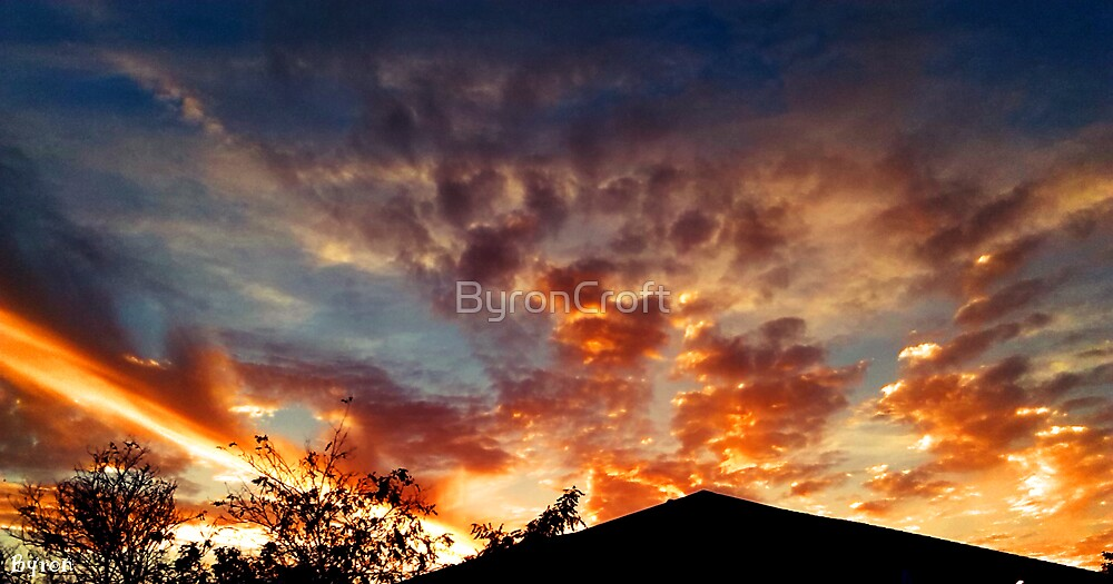 Sunset Explosion by Byron Croft, Croft Photography by ByronCroft