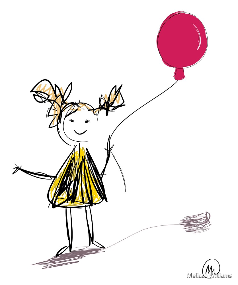 Girl and balloon by Melissa Williams