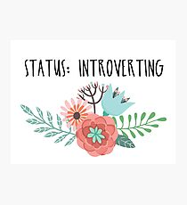 Status: Introverting Photographic Print