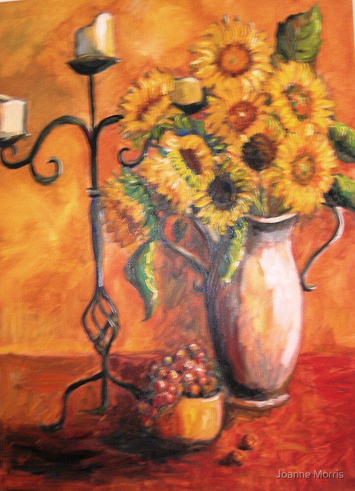 Sunflowers & Candles by Joanne Morris