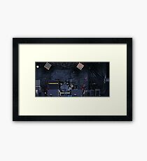 musical instruments on stage Framed Print