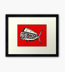 Graffiti Red Mahi Mahi Dolphinfish Framed Print