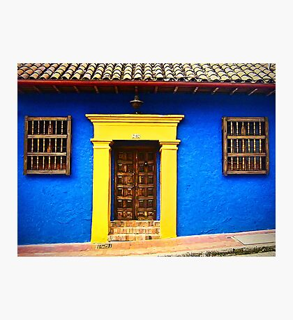 Colorful Vintage Facade Photographic Print