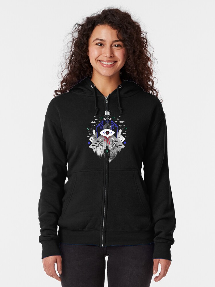 Alternate view of Astral Projection Zipped Hoodie