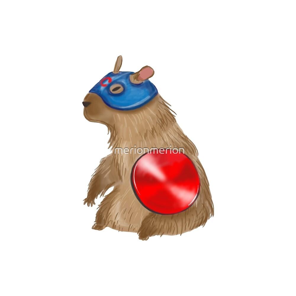 Captain Capybara by merionmerion
