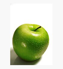 ripe green apple isolated on white background Photographic Print
