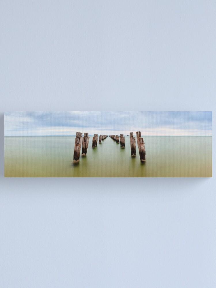 Alternate view of Clifton Springs Pier, Victoria, Australia Canvas Print