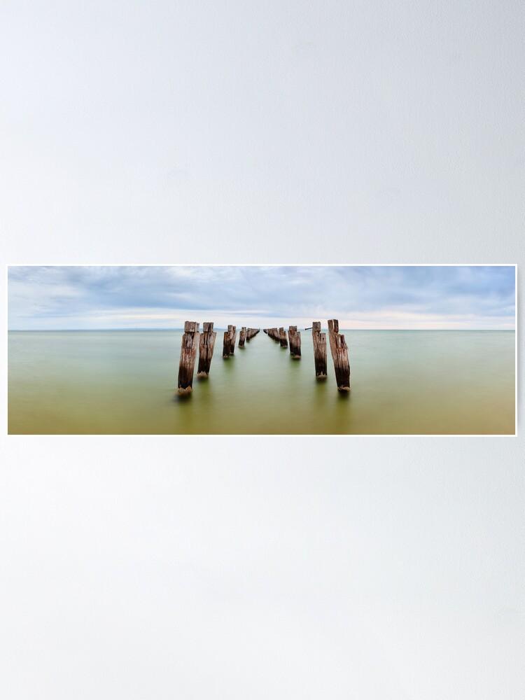 Alternate view of Clifton Springs Pier, Victoria, Australia Poster