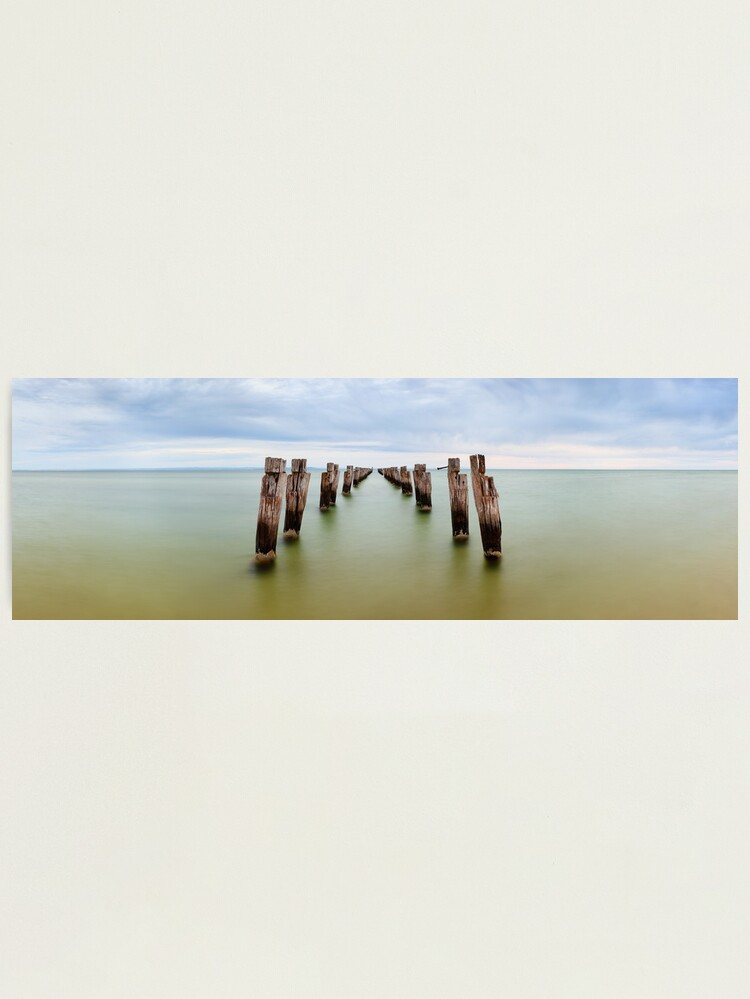 Alternate view of Clifton Springs Pier, Victoria, Australia Photographic Print