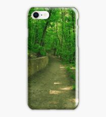 road in the woods iPhone Case/Skin