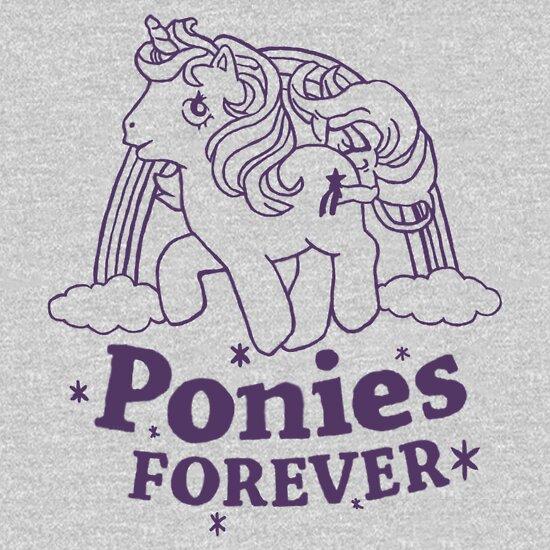 TShirtGifter presents: ponies forever!   Unisex T-Shirt