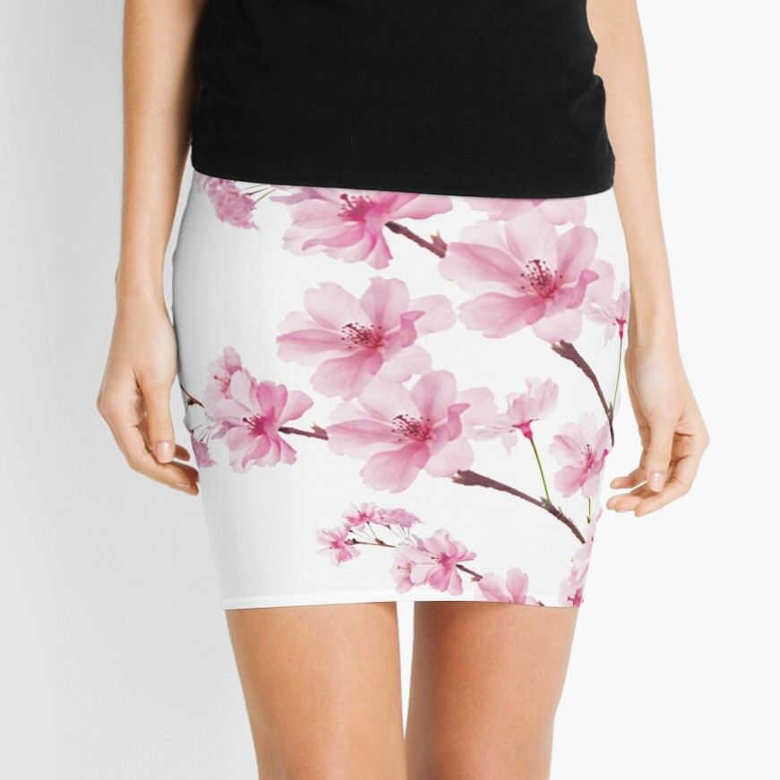 Sakura Cherry Blossom Mini Skirt