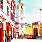 Fognano: square with bell tower by Giuseppe Cocco
