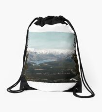 Overlooking Banff Drawstring Bag