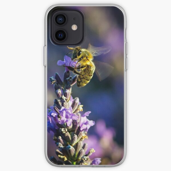 honey bee on lavender iPhone Soft Case