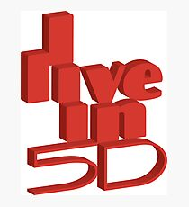 I live in 5D Photographic Print