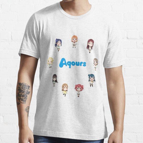 Love Live! Sunshine Aqours Chibi Logo Essential T-Shirt