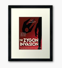 The Zygon Invasion Poster Framed Print