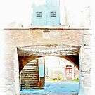 Fognano: arch with window and stair by Giuseppe Cocco