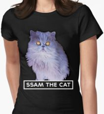 ssam the cat: 2016 [white] Women's Fitted T-Shirt