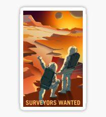 Mars - Surveyors Wanted Sticker