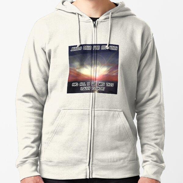 Inspirational T-shirt Zipped Hoodie