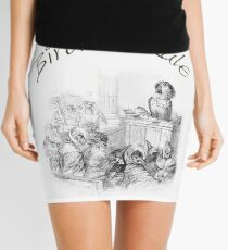 Birder's Rule! - The Parrot Judge by J. J. Grandville Mini Skirt