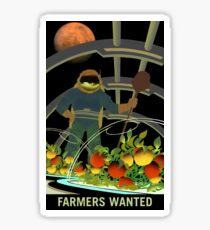 Mars - Farmers Wanted Sticker