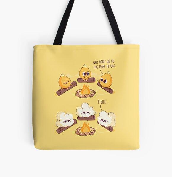 Corn Fire All Over Print Tote Bag