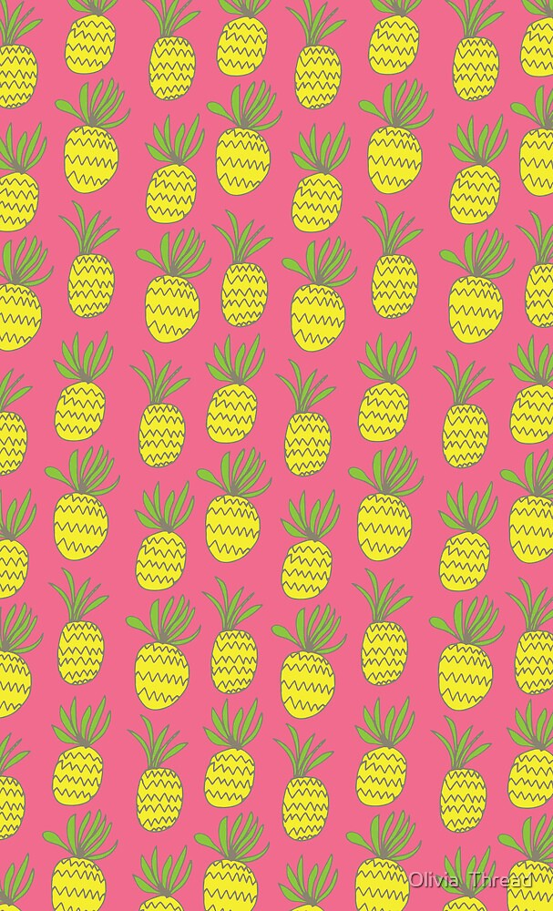 Pineapples: Pink by Olivia  Thread