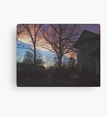7:00, the Sky's Gold Canvas Print