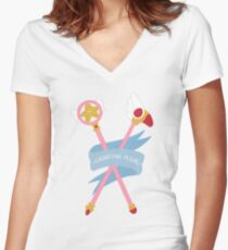 Star Wand and Sealing Wand Women's Fitted V-Neck T-Shirt