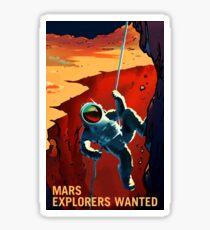 Mars - Explorers Wanted Sticker