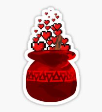 Red Potion Hearts w/o Cartridge Sticker