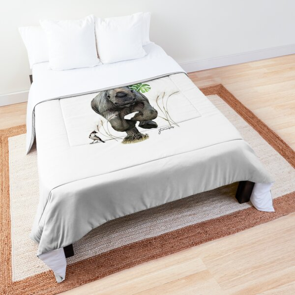 The Animal Project ( Rhino) by JTMUSES Comforter
