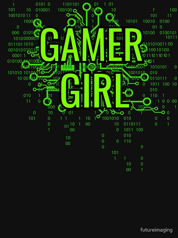 GAMER GIRL Cyber Green by futureimaging
