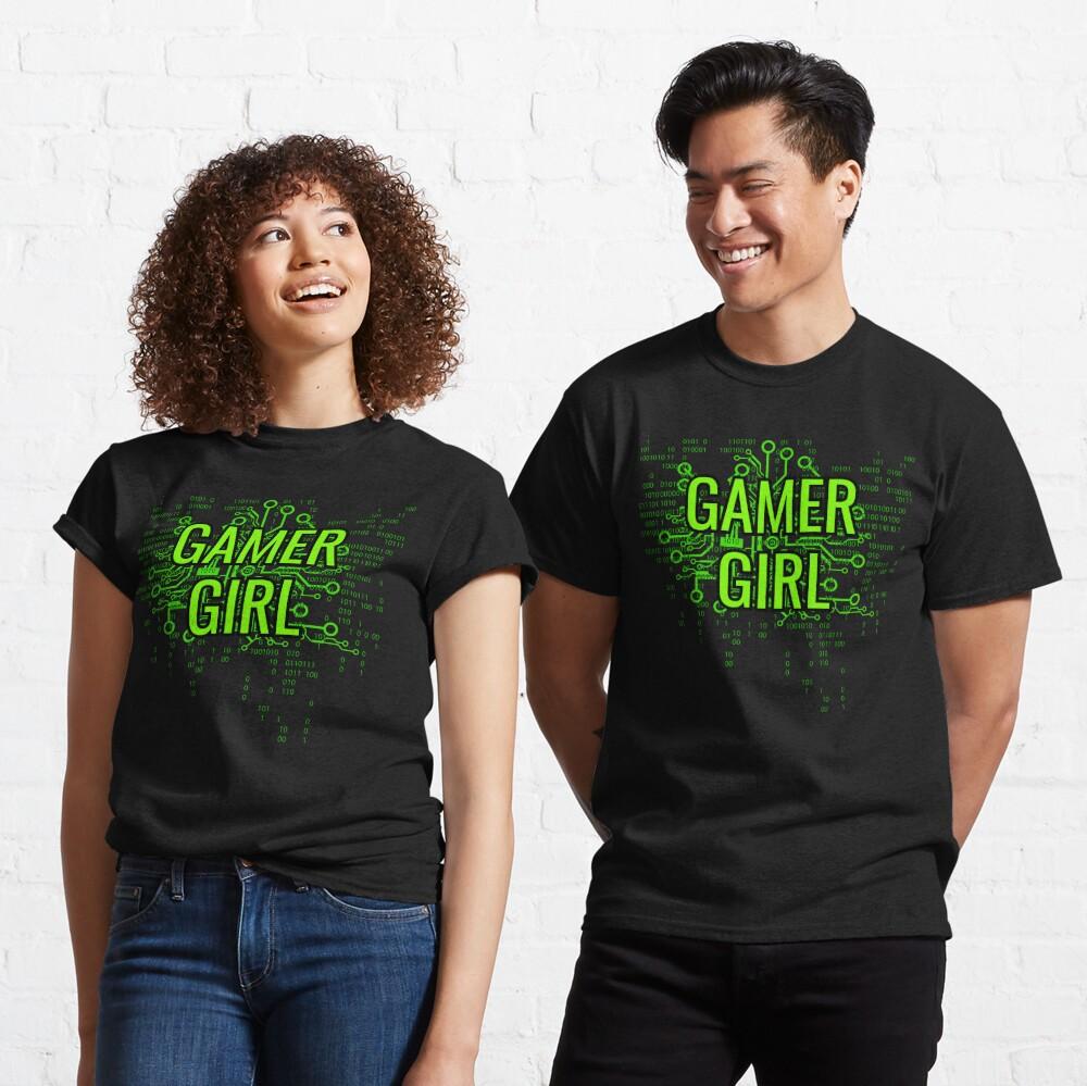 GAMER GIRL Cyber Green Classic T-Shirt
