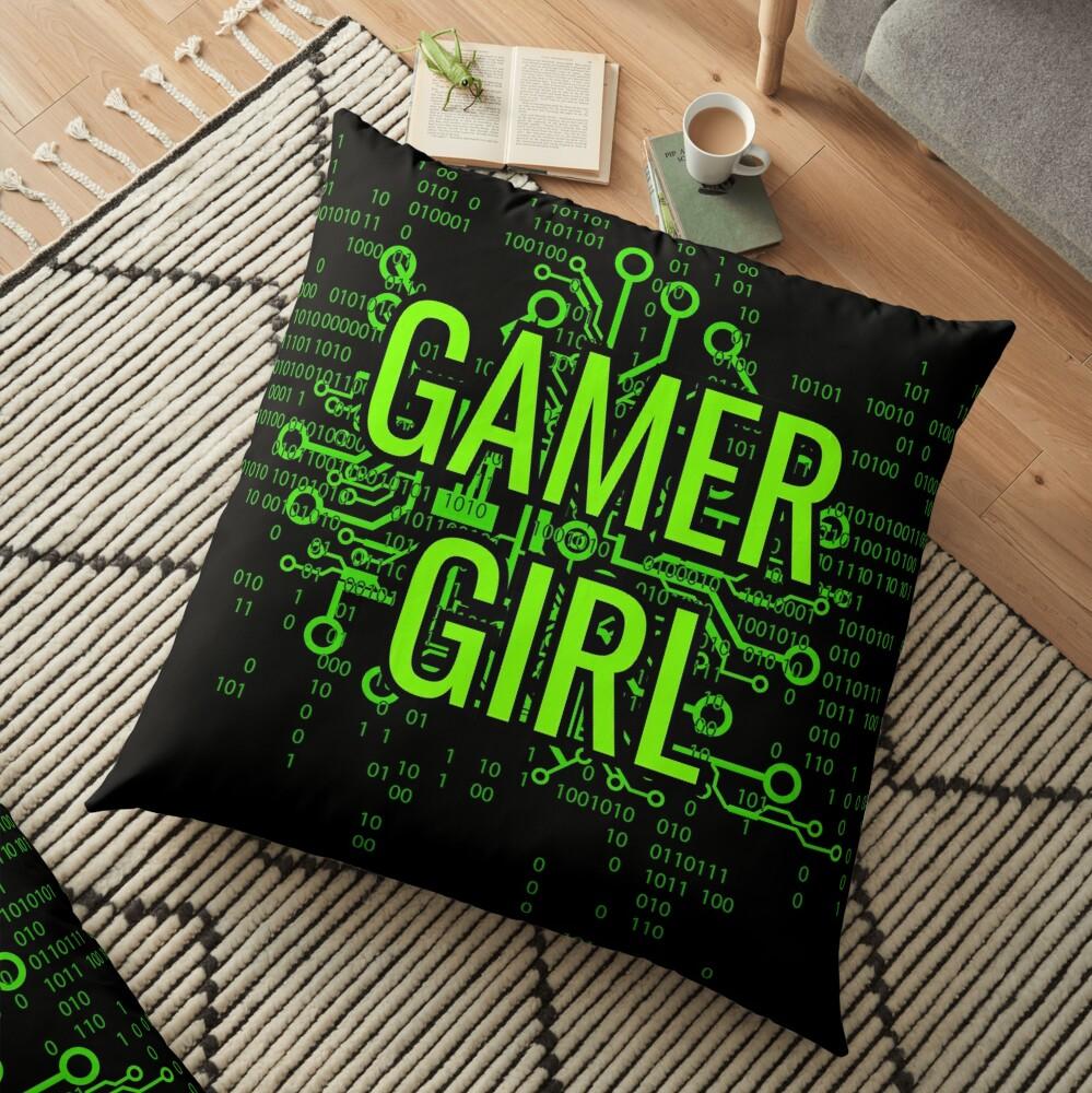 GAMER GIRL Cyber Green Floor Pillow