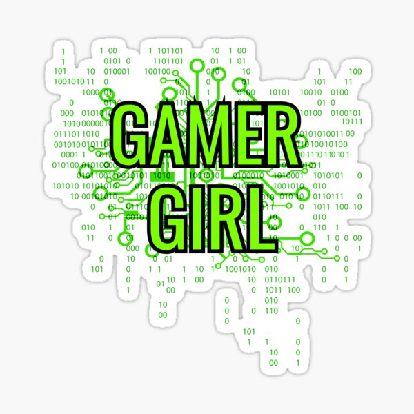 GAMER GIRL Cyber Green Sticker