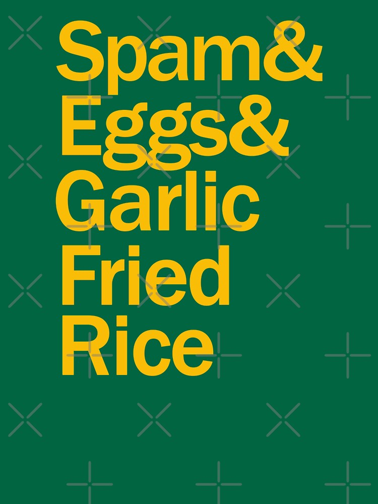 Spam, Eggs, Garlic Fried Rice by themarvdesigns