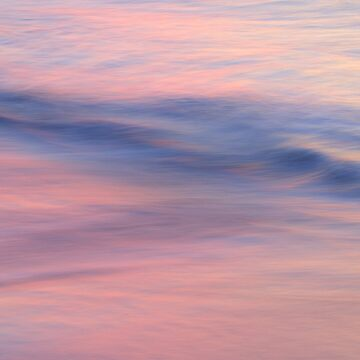 Abstract wave on beach in pink by AdelevS19