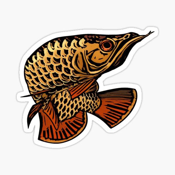 Arowana aquarium fish decal