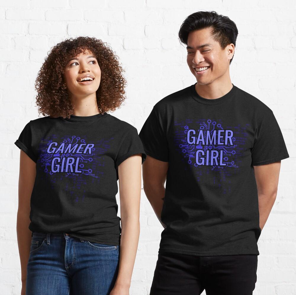 GAMER GIRL Electric Blue Classic T-Shirt