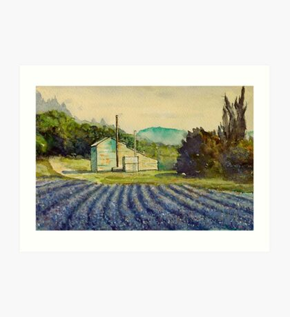 Lavender distillery near Sault and Aurel, Provence France Art Print