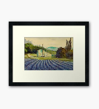 Lavender distillery near Sault and Aurel, Provence France Framed Print