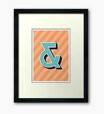 Ampersand + Framed Print