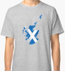 Flag Map of Scotland  Classic T-Shirt